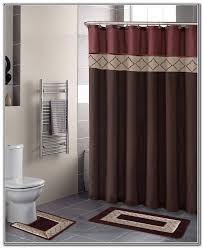 Bathroom Shower Curtain And Rug Set Bathroom Sets With Shower Curtain And Rugs Contemporary Bathroom