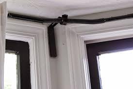 simple installation corner curtain rod u2014 new interior design