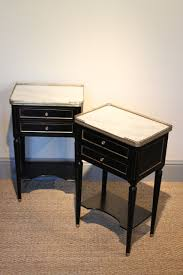 marble top bedside table good pair of french marble top ebonised bedside tables furniture