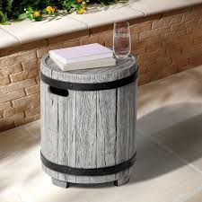 concrete outdoor side table concrete outdoor side tables patio tables the home depot