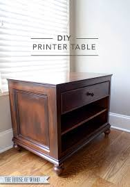 how to build a table with drawers diy printer table
