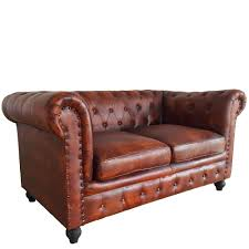 Leather Chesterfield Seater Sofa Wallace Sacks - Chesterfield sofa and chairs