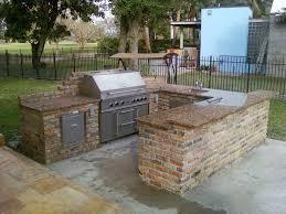 Brick Kitchen Ideas Luxury Inspiration Outdoor Brick Kitchen Designs On Wood Deck Home