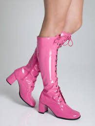 womens boots size 11 uk pink boots womens retro cerise gogo knee high eyelet boots