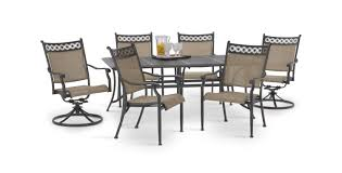 Agio 7 Piece Patio Dining Set - manhattan 7 piece patio set hom furniture furniture stores in