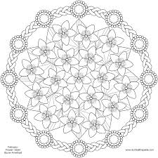 spring flower mandala coloring pages pattern mandala free
