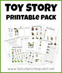 toy story preschool pack free printables therapy activities