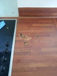 Repair Laminate Wood Floor Pan Burns And Heat Blistered Worktop Repairs Namco Refurbs