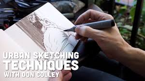 urban sketching techniques with don colley youtube