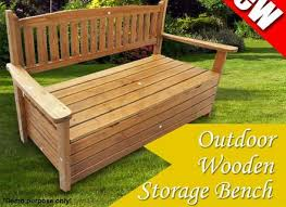 Garden Storage Bench Wood Wooden Outdoor Garden Storage Bench Chair Box Seat Chest Furniture