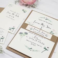 louisa u0027 watercolour wedding invitation suite by wildflower