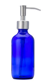 Lotion Dispenser by Jarmazing Products Petite Blue Glass Soap And Lotion Dispenser