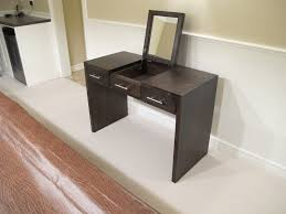Unique Vanity Table Furniture Rectangle White Wooden Dressing Table Connected By