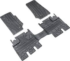jeep wrangler mats mopar 82210166ac floor slush mats with tire tread pattern for 07