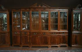 Super Hutch Large Mahogany China Cabinet Large Breakfront Extra Large