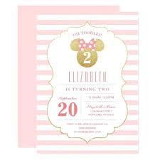 online birthday card birthday card invites mouse gold amp pink striped birthday card