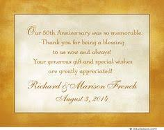 50th Wedding Anniversary Card Message Thank You Card For Anniversary Gift Google Search 50th