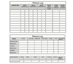 printable workout sheet sample printable workout sheet 8