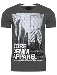 new mens dissident arrow crane motif print t shirt short sleeved