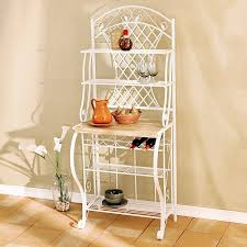 amazon com southern enterprises trellis bakers rack with scroll
