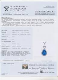 15 ct t w diamond and tanzanite pendant necklace in 14k white