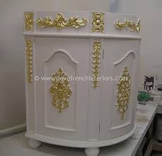 bespoke demi lune ornate sink vanity unit ornate bathroom vanity