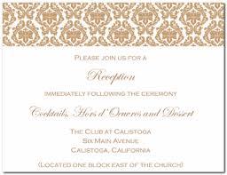 Wedding Reception Card Wording Wedding Reception Invitations Templates Wblqual Com