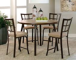 bar style dining table suede chocolate brown steel bar set vision 5 piece pub set