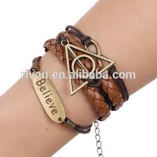 girls leather bracelet images Pk0274 girls diy infinity braided leather bracelet believe buy jpg