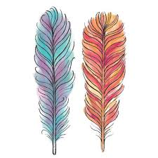 watercolor feathers temporary tattoos