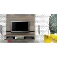 furniture brown wooden wall mounted media cabinet with storage