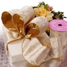 white velvet ribbon wide wired velvet ribbon