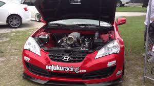 hyundai genesis coupe supercharger enjuku racing supercharged ls1 hyundai genesis revving