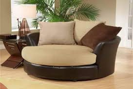sofa brown round swivel chair jen joes design build round