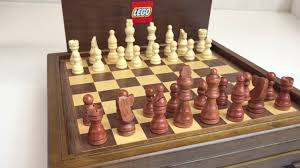 Wooden Chess Set by Lego Wooden Chess And Game Set Employee Gift Youtube
