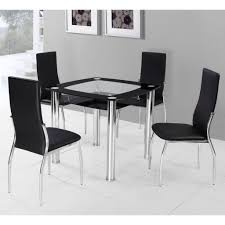 Glass Dining Table And Chairs Dining Square Glass Dining Table Midcentury Compact Folding