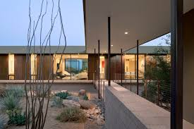 this contemporary desert home was designed to have a low impact on