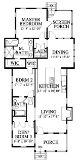 allison ramsey architects floorplan for saluda cottage 1280