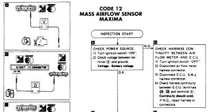 nissan maxima mass air flow sensor 1992 nissan maxima code 12 have a code 12 changed mass air flow