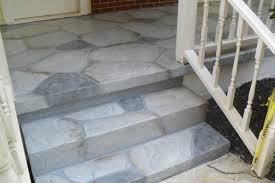 exterior exquisite fornt porch decoration using grey stone