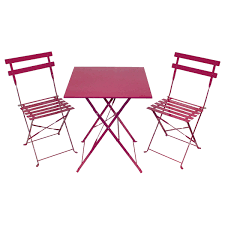 Metal Garden Table And Chairs Uk Bentley Garden Metal Bistro Set Pink U0026 Silver