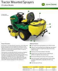 john deere 25 gallon tractor mounted sprayer lp22861