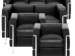 corbusier canapé canapé et fauteuil style le corbusier bauhaus lc2 occasion