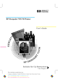 download free pdf for hp designjet 755cm printer manual