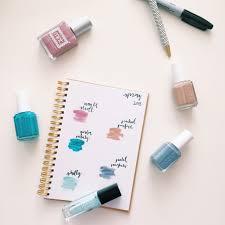 spring novels and nail polish