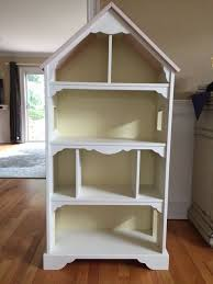 pottery barn dollhouse bookcase rare pottery barn kids wooden dollhouse bookshelf pink playroom