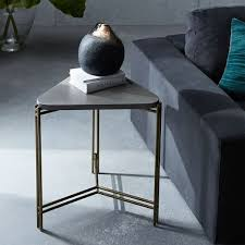 C Side Table Concrete Triangle Side Table West Elm