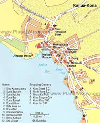 map kona usa kona hawaii usa cruise port of call