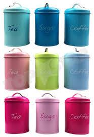 kitchen tea coffee sugar canisters tea coffee sugar canisters storage kitchen jars set of 3 pastel