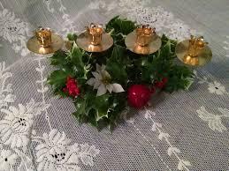 christmas centerpiece vintage chrismas candle holder plastic
